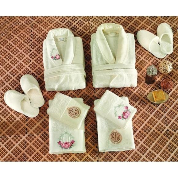 Şıkel Other - Turkish Robe Sets, Family Set, White, 6 Pieces